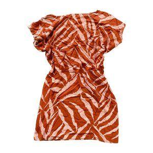 Vintage Orange Mini Dress